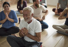 变化人锻炼类放松概念 图库摄影