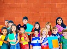 变化儿童友谊无罪微笑的概念 图库摄影