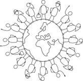 变化地球 图库摄影