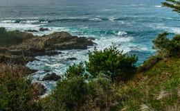 变化增光加利福尼亚沿海风景  免版税库存图片