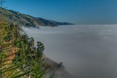 变化增光加利福尼亚沿海风景  库存照片
