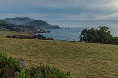 变化增光加利福尼亚沿海风景  图库摄影