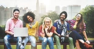变化少年朋友友谊队概念 免版税库存照片