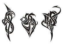 变化的纹身花刺 库存图片