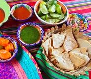 变化的辣椒食物柠檬墨西哥烤干酪辣&# 图库摄影