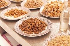 变化的阿拉伯甜点 免版税库存照片