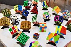 变异Rubik ` s立方体 免版税库存照片