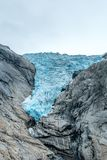 变得的冰川越来越小 免版税库存照片