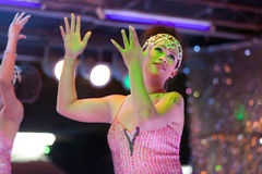 变性泰国舞蹈演员 免版税库存照片