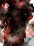 变成灰烬大气烟 免版税库存图片