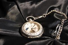 变成银色手表 免版税库存照片