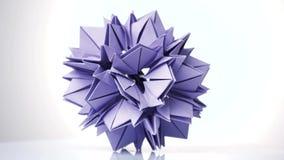 变换尖刻的球的紫色origami 皇族释放例证