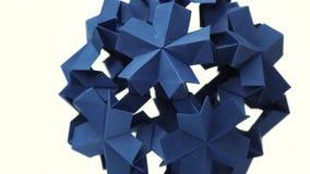 变换尖刻的球的蓝色origami 库存例证