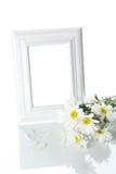 变白的花框架 库存照片