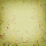 变粉红色在老难看的东西纸张的莲花 免版税图库摄影