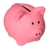 变粉红色存钱罐 免版税图库摄影