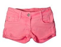 变粉红色短裤 库存图片