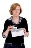变老的中间妇女 免版税库存照片