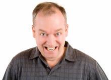 变老的人中间微笑 免版税图库摄影