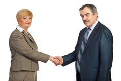 变老的企业信号交换中间名人员 库存图片