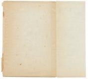变老的古色古香的被折叠的老纸张剥&# 库存图片