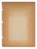 变老的古色古香的退色的老纸张剥去&# 免版税库存照片