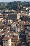 变老的城市屋顶  免版税库存图片