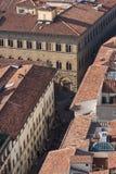 变老的城市屋顶  图库摄影
