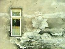 变老的墙壁 库存照片