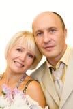 变老的夫妇中间名 免版税库存照片