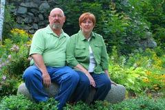 变老的夫妇中间名 库存图片