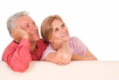 变老的夫妇纵向 库存照片