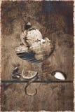 变老的奶油色冰照片 库存照片
