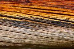 变老的接近的纹理被设色木头 库存照片