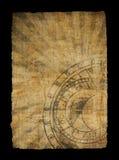 变老的时钟纸张黄道带 库存图片