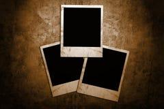 变老的框架照片 库存图片