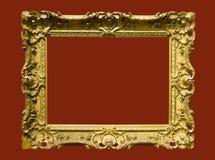 变老的框架金黄照片照片 免版税库存照片