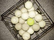 变老的球网球 库存照片