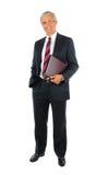 变老的生意人中间名投资组合 免版税库存图片