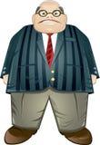 变老的生意人中间肥胖 库存照片