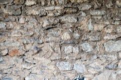 变老的石墙 库存图片