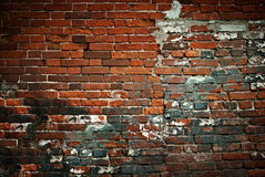 变老的砖墙 库存照片