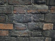 变老的砖墙 库存图片