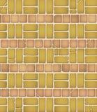 变老的砖模式瓦片 图库摄影