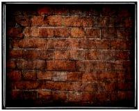 变老的砖破裂的grunge墙壁 免版税库存照片