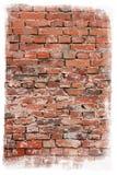 变老的砖纹理墙壁 免版税图库摄影