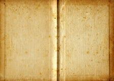 变老的空白书 库存照片