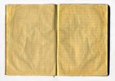 变老的笔记本 免版税库存照片