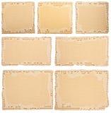 变老的纸板收集部分 免版税库存图片
