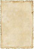 变老的老纸张 免版税库存照片